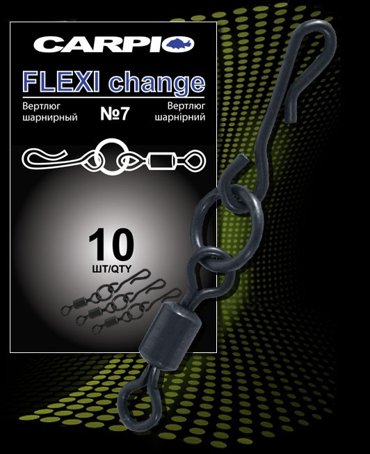 Фото — Все для оснасток Вертлюг Carpio FLEXI Change 10 шт.