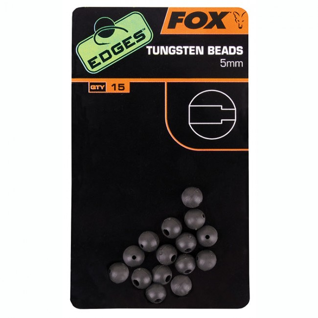 Фото — Все для оснасток Fox Edges 5mm Tungsten Beads x 15