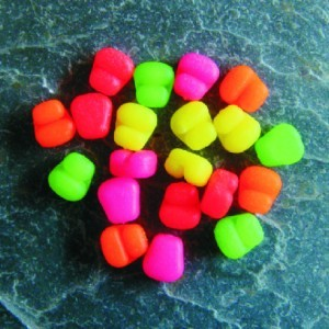 Enterprise Tackle Sweetcorn Hair Stop Mini Niteglow Blue & Green Mixed